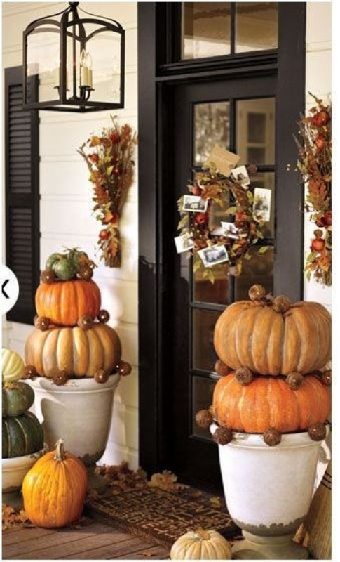 Picture of cute fall porch decor ideas Beautiful fall front porches