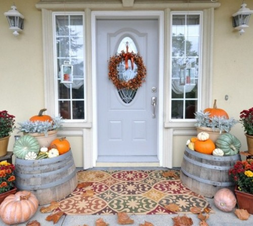 70 cute and cozy fall and halloween porch d cor ideas shelterness. Black Bedroom Furniture Sets. Home Design Ideas