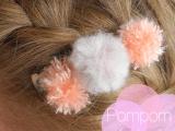 pompom hair clip