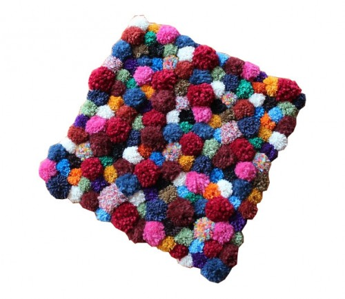 pompom accent rug