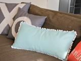 pompom edge pillow