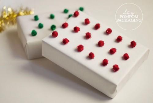 pompom gift wrap (via popcosmo)