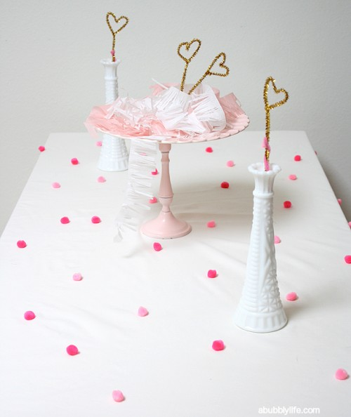pompom tablecloth (via abubblylife)