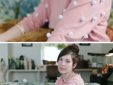 cute pompom sweater