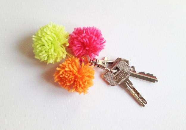 pompom key chain