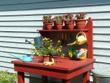 Cute Red Potting Station