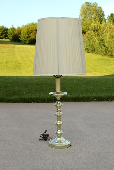 Cute Tabletop Lamp Makeover