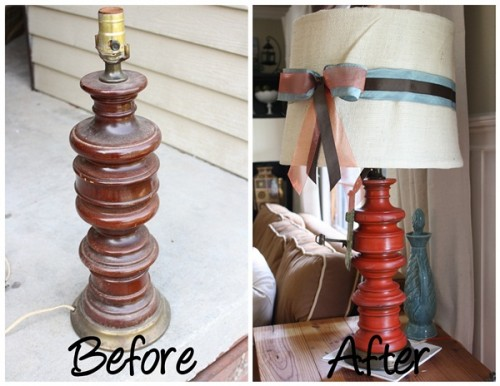 Before & After – Cute Thrifty Lamp Makeover