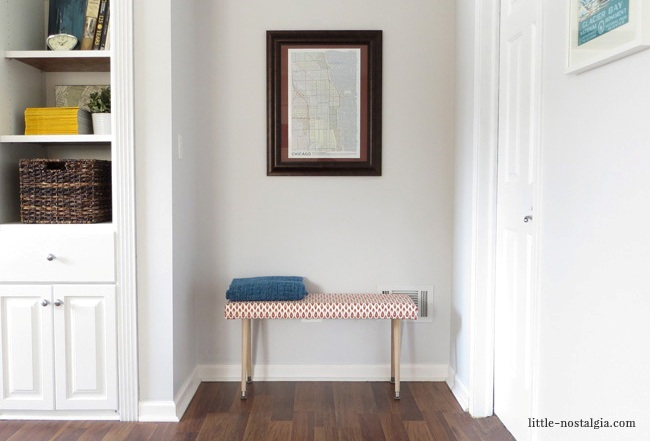 Picture Of cute yet simple diy uphosltered bench  2