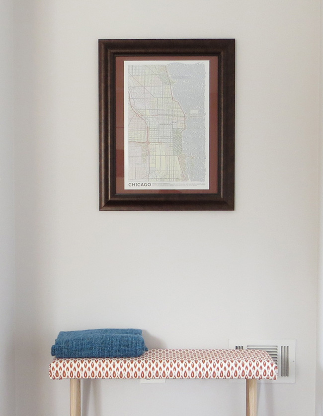 Picture Of cute yet simple diy uphosltered bench  5