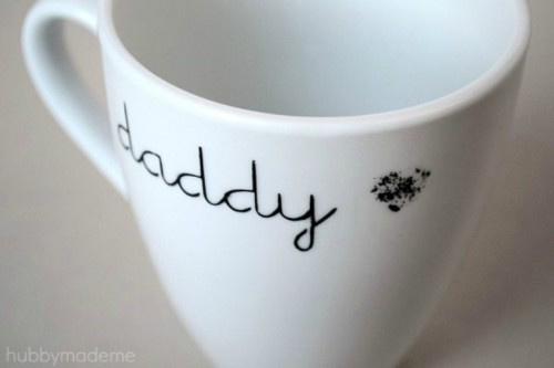 Daddy's Painted Mug As Father's Day Gift