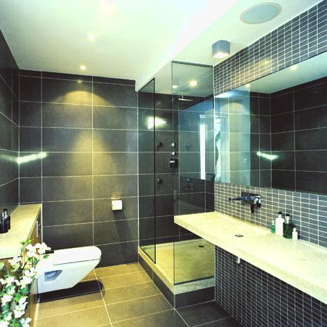 Picture of dark bathroom design ideas for Dark bathroom designs