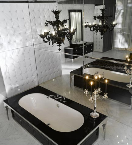Bathroom Layout on 33 Dark Bathroom Design Ideas    Photo 11