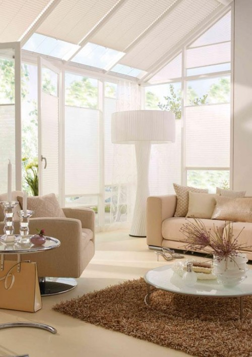 10 Ideas To Use Pleated Blinds To Decorate Windows