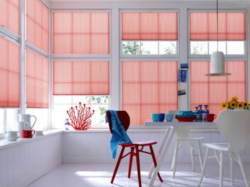 Decorate Windows With Pleated Blinds