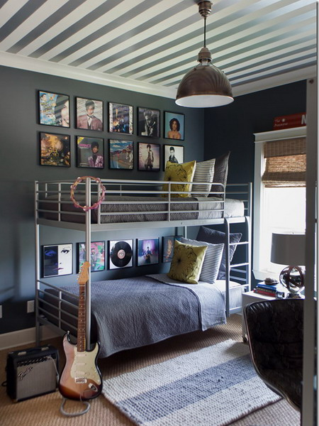Decorating Ceiling With Stripes