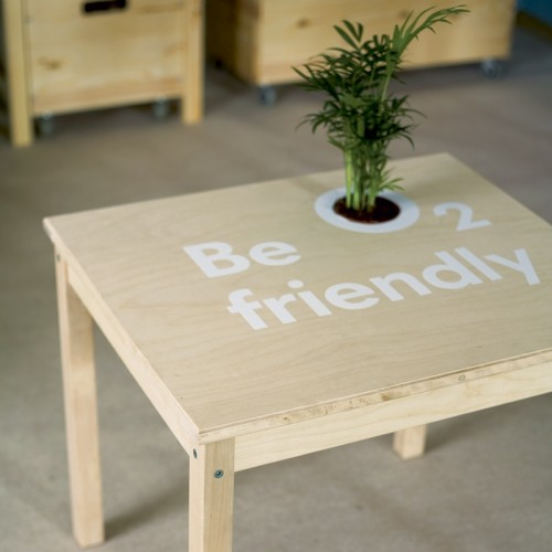 DIY Coffee Table With A BuiltIn Planter Shelterness - Charming vintage diy sawhorse coffee table