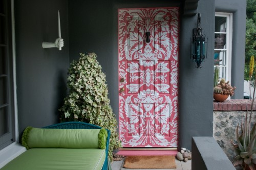 a statement door piece is a nice touch to any interior