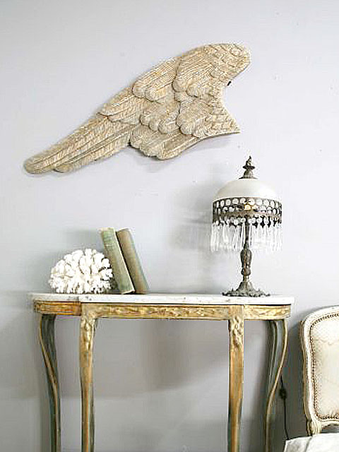 Decorating Interior With Angel Wings