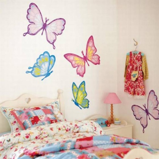 Decorating kids room with butterflies shelterness - How to decorate butterfly ...