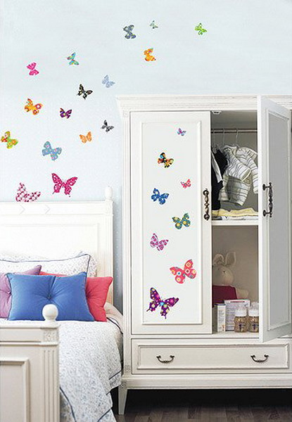 23 ideas to decorate girls room with butterflies shelterness
