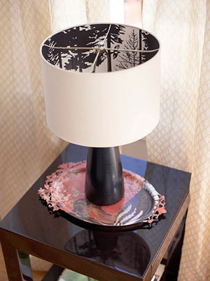 Decorating Lampshade With Wallpaper