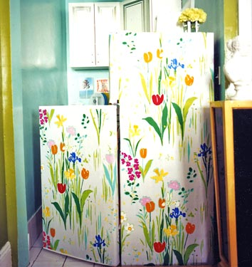 Floral refrigerator decor
