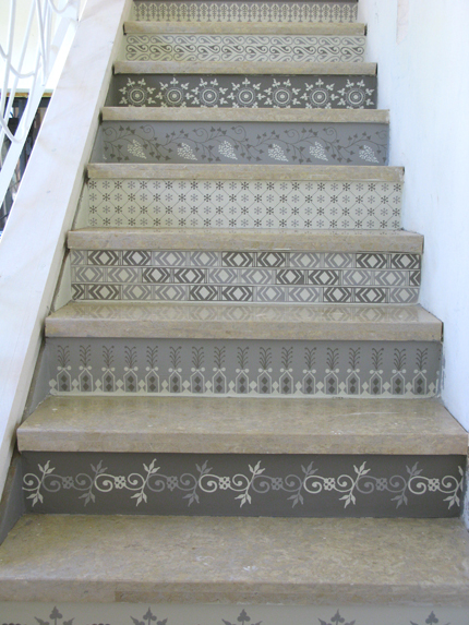 Decorating A Staircase With Stencils