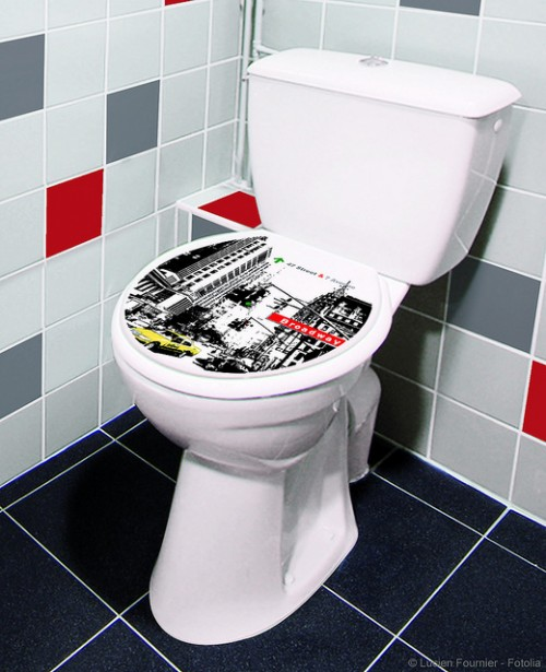 Decorating Toilets With Vinyl Stickers Shelterness