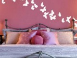 if you have a pink wall, white butterfly decals will stand out on it very well