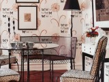 whimsy stamped butterfly wallpaper for a quirky vintage-inspired space