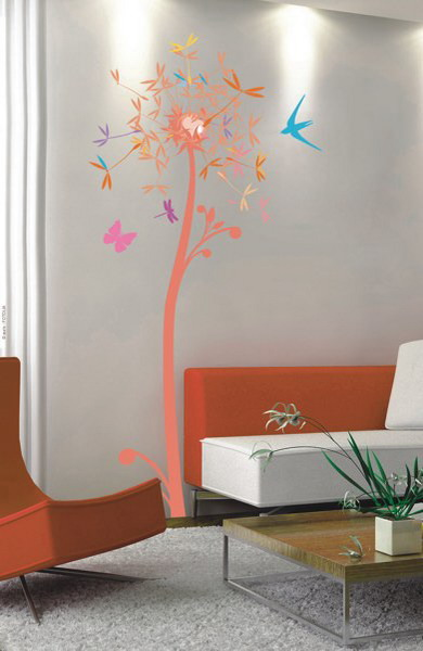 Fresh Decorating Walls With Butterflies