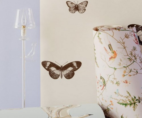 simple brown butterfly decals on the wall will make it stand out a bit and will add a whimsy touch to the decor