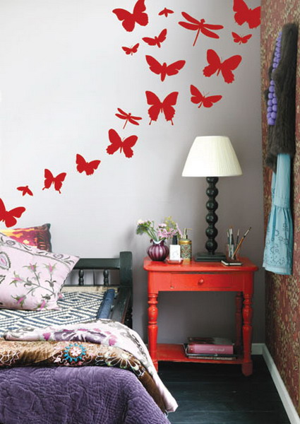 Trend Decorating Walls With Butterflies