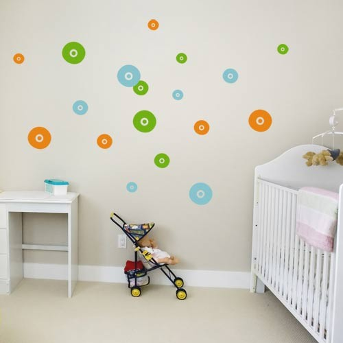 Elegant Decorating Walls With Circles
