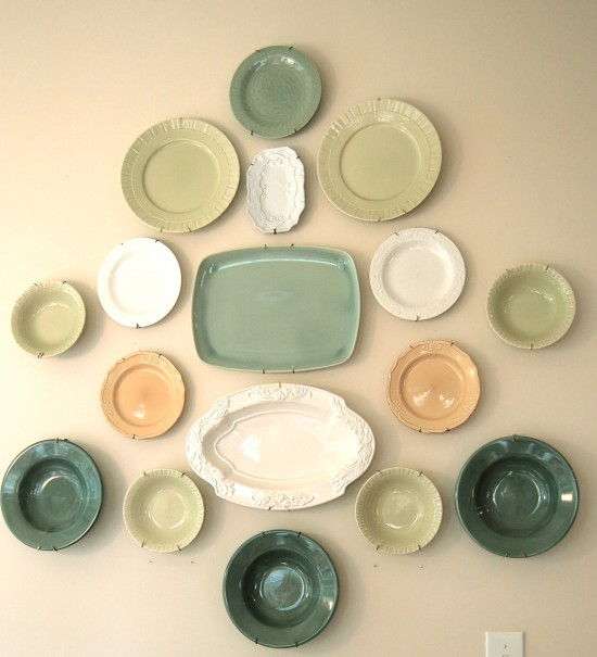 decorating walls with plates shelterness