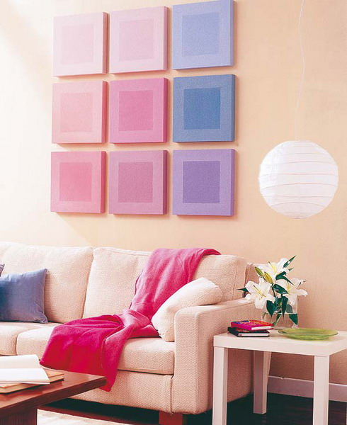 20 Ideas To Decorate Walls With Squares