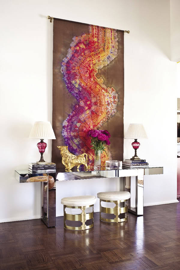 modern interior decoration console