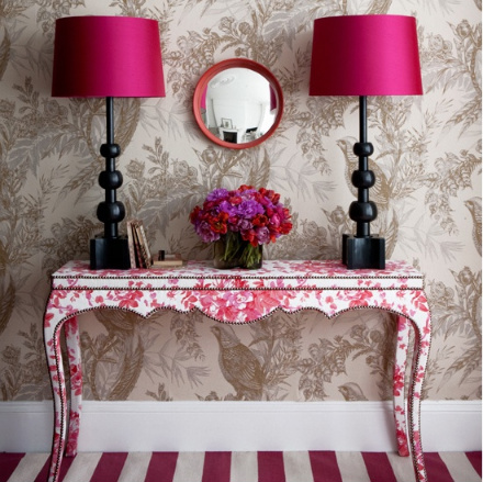 When the table is covered with a beautiful pattern it could become an interesting part of your decor.