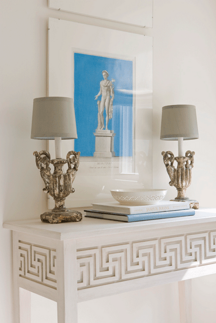 Picture of decorating with console tables for Ancient greek decoration ideas