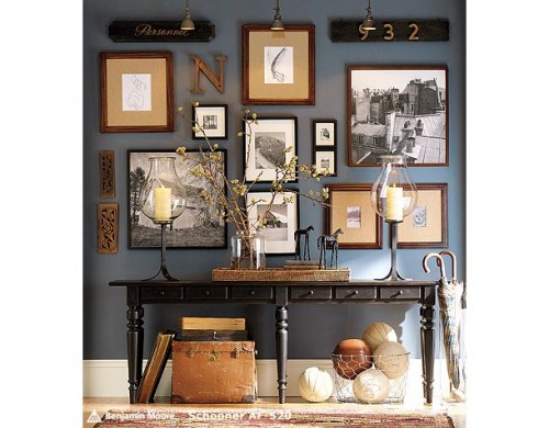 A Gallery Art Wall Works Great With A Console Table Display,