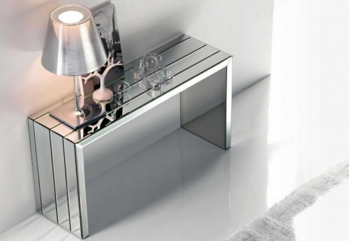Mirror surfaces could help to make the space look bigger.