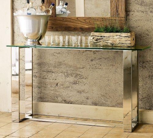 Minimalist Solution For A Refresh Bar. Minimalist Solution For A Refresh  Bar. Decorating With Console Tables