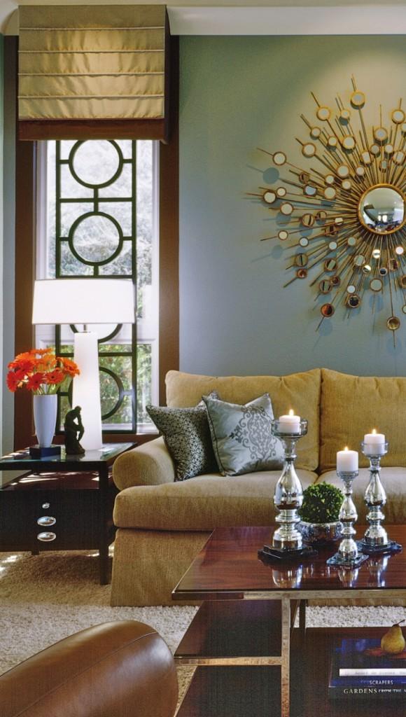 21 decorating ideas of using sunburst mirrors photo 14