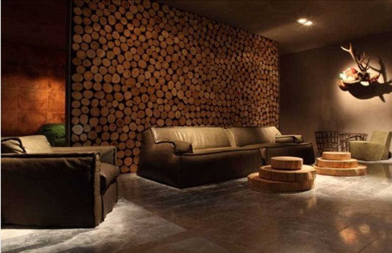 30 Interiors Decorated With Firewood | Shelterness