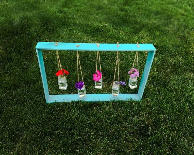 Decorative Diy Hanging Vases In A Frame