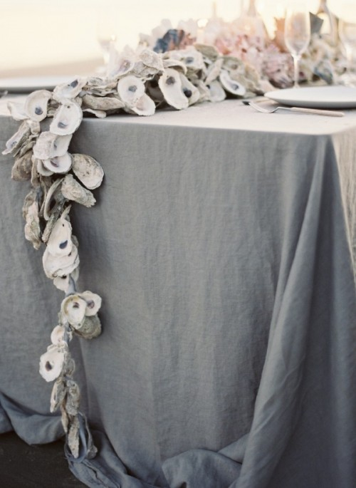 oyster shell garland (via oncewed)