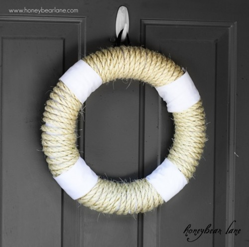 rope wreath (via honeybearlane)