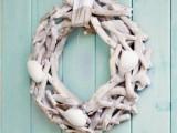 cottage seashell wreath