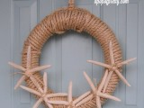 sisal starfish wreath